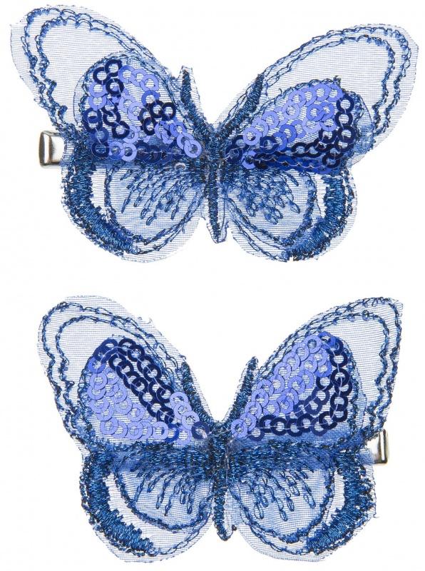Заколки с бабочками TAIS, голубые, 2 шт.Заколки с бабочками TAIS, голубые, 2 шт.<br>