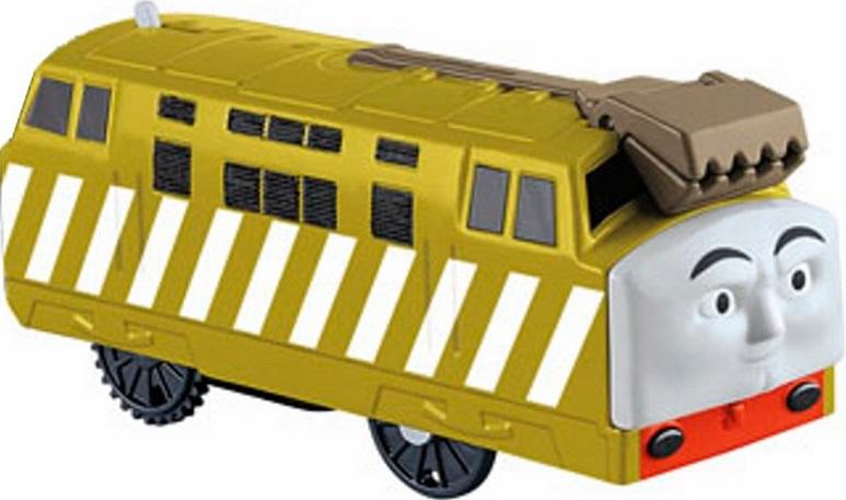 Моторизованный паровозик Thomas &amp; FriendsМоторизованный паровозик - это воплощение одного из персонажей мультсериала о приключениях одушевленных локомотивов. В мультфильме он был одним из антагонистов добрым паровозикам, поэтому у игрушки такое сердитое лицо. Тем не менее, отрицательные персонажи придадут игре большую динамичность и вариативность.Данный паровозик совместим со всеми игровыми наборами и рельсами Trackmaster, а специальные зубчатые колесики позволяют ему преодолевать подъемы значительной крутизны: достаточно лишь сдвинуть рычажок на корпусе игрушки - и паровозик поедет вперед.<br>