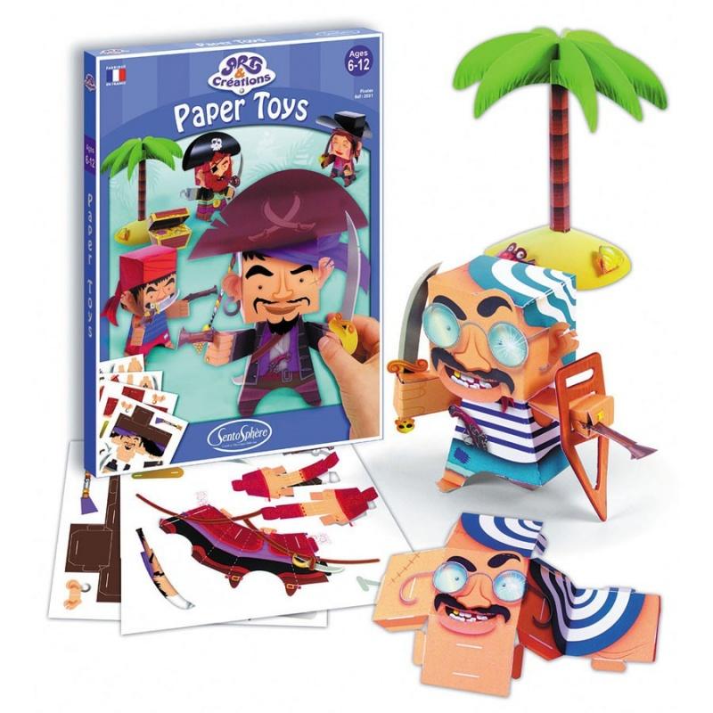 Набор для детского творчества Фигурки из бумаги. Пираты купить аксессуары в автомобиль наложенным платежом