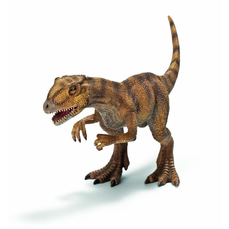 АллосаурусФигурка «Аллосаурус» от немецкого производителя игрушечных копий «Шляйх» позволит вашему ребенку расширить кругозор и узнать много нового о мире динозавров. Аллозавр - двуногий крупный ящер, который обитал во времена юрского периода, хищник, который охотился вместе со стаей сородичей. Высота игрушки достигает 22 см, а кроме того, динозавр имеет подвижную нижнюю челюсть, что придает ему реалистичности.Внешний вид фигурки аллозавра весьма впечатляющий: он расписан и выкрашен вручную. При этом создатели предусмотрели каждую деталь, каждую чешуйку и оттенок кожного покрова. Изделие является точной копией музейных аллосаурусов, поэтому родители и дети так любят игрушки производства «Шляйх».Коллекционируя фигурки дикой фауны, малыши становятся более любознательными, учатся различать животный мир, проявляют больше интереса к живой природе и окружающему миру. Так у детей появляются действительно полезные увлечения.Вы можете купить набор в розничных магазинах Москвы, Санкт-Петербурга и Московской области или заказать на сайте Hamleys по привлекательной цене с курьерской доставкой.<br>