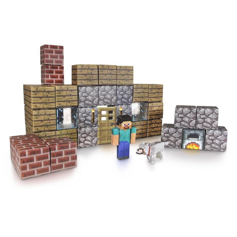 Бумажный конструктор Майнкрафт Паперкрафт - УбежищеЭто большой набор бумажного конструктора Minecraft Papercraft с помощью которого Вы можете собрать главного героя игры - Стива, его собачку, а также кучу пиксельных блоков, из которых Вы можете построить настоящее убежище! Данный конструктор Майнкрафт Паперкрафт превосходно подходит в качестве стартового набора. Детали игры выдавливаются из специального листа и собираются, что позволяет развивать логику и мелкую моторику пальцев. Собери все наборы и построй собственную вселенную Майнкрафт у себя дома!Возраст: от 6 летДля мальчиков и девочекМасштаб: 1:16.Количество деталей: 48.Комплектация: 44 листа конструктора, 1 бумажная лента, 6 блоков с наклейками.Материалы: бумага, картон.Размер упаковки: 5.08 x 31.115 x 21.59 см.Вес: 0.25 кг.<br>