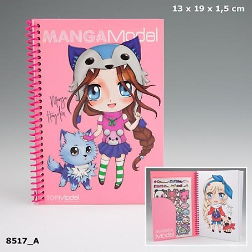TOPModel Manga Альбом для раскрашивания с наклейками, мини