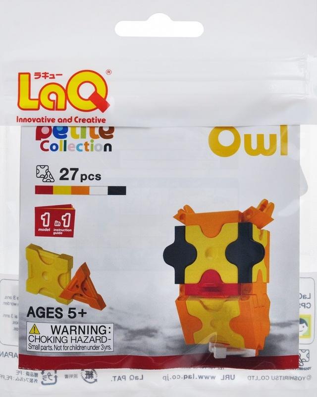 Конструктор LAQ Owl, 27 деталейКонструктор LaQ Owl не позволит скучать вашему ребенку. Он включает в себя 27 разноцветных пластиковых элементов, с помощью которых малыш сможет собрать фигурку в виде маленькой совы.В комплект также входит схематичная инструкция по сборке.Конструктор - это один из самых увлекательнейших и веселых способов времяпрепровождения. Ребенок сможет часами играть с конструктором, придумывая различные ситуации и истории.<br>