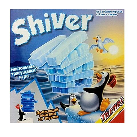 Настольная игра Trends Дрожащий пингвинНастольная игра «Дрожащий пингвин» понравится детям и взрослым.Игрокам необходимо разложить льдинки на подносе согласно рисунку. Включите пингвина и он начнет дрожать. Участники по очереди должны вытащить колонны из башни, чтобы она не развались. Игрок, разрушивший башню, проиграл. Время игры составляет 15-20 минут.Игра предусмотрена для 2 и более человек.Игра электромеханическая оснащена звуковыми эффектами.<br>