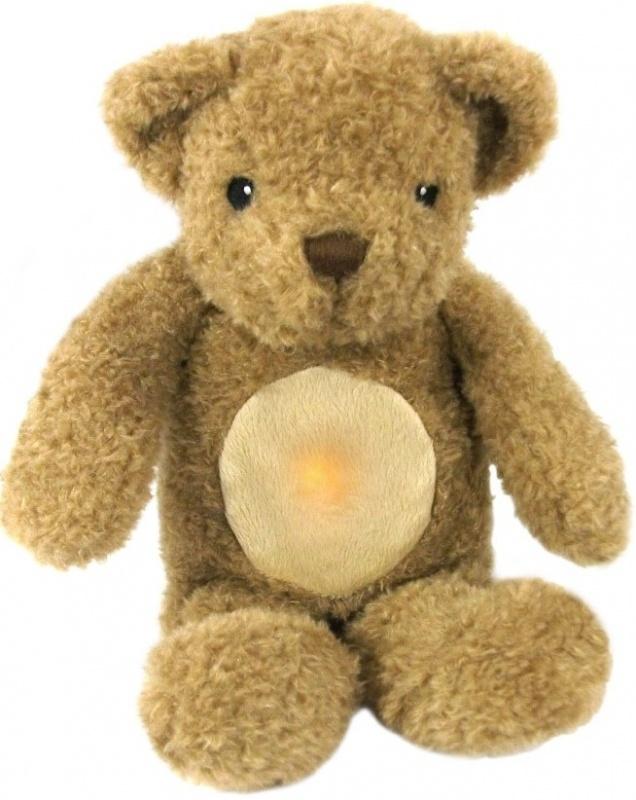 Ночник-проектор Cloud В Медвежонок-обнимашкаМаленькие дети любят играть и засыпать с плюшевыми мишками, эта же игрушка Медвежонок-обнимашка от Cloud B создана специально для сна. Игрушка излучает свет и воспроизводит звук биения сердца, что успокоит даже новорожденного малыша и поможет ему заснуть. У Медвежонка закрыты глаза, что дополнительно настраивает кроху на сон.ОСОБЕННОСТИ:отсутствие мелких деталей и высокое качество пошива игрушки поможет избежать несчастных случаеву игрушки предусмотрен датчик движений, запускающий сердцебиение или вибрациюмягкий свет излучается блоком в виде сердцаблок можно вынуть и играть с медвежонком днем или стирать егопредусмотренная функция отключения через 10 или 23 минуты сэкономит заряд батареек и поможет ребенку привыкнуть спать в темнотев комплекте книжечка с историей и инструкцией<br>