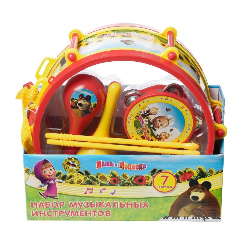 Набор музыкальных инструментов Маша и Медведь набор музыкальных инструментов играем вместе маша и медведь