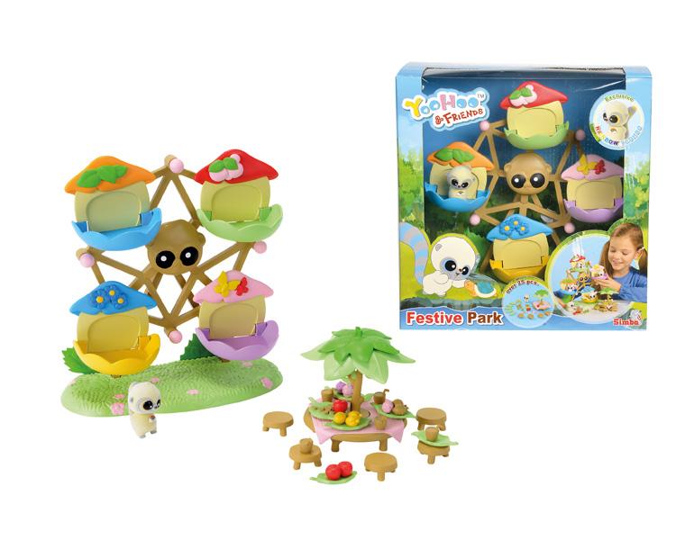Каруселька YooHoo &amp; FriendsОчаровательная каруселька с знаменитыми героями мультфильма YooHoo &amp; Friends станет прекрасным подарком любому поклоннику серии. Все зверюшки помещаются в кабинки забавной карусели, колесо которой может вращаться, а за специальным столиком для пикника все зверюшки-друзья могут вместе полакомиться различными фруктами.Набор включает в себя фигурку лемура, колесо обозрения, стол и стульчики для пикника, а также множество различных аксессуаров.Возраст: от 5 летДля девочекКомплектация: карусель, стол, стульчики, аксессуары, зверек.Материалы: высококачественная пластмасса.Размер упаковки: 26 х 12.5 х 27 см.<br>