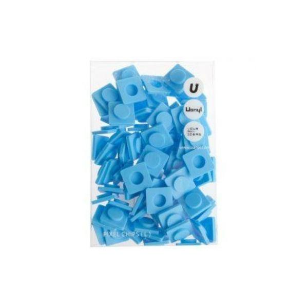 Пиксельные фишки Большие WY-P001 голубойКомплект силиконовых пикселей для самостоятельного создания рисунков на сумках, рюкзаках Upixel<br>