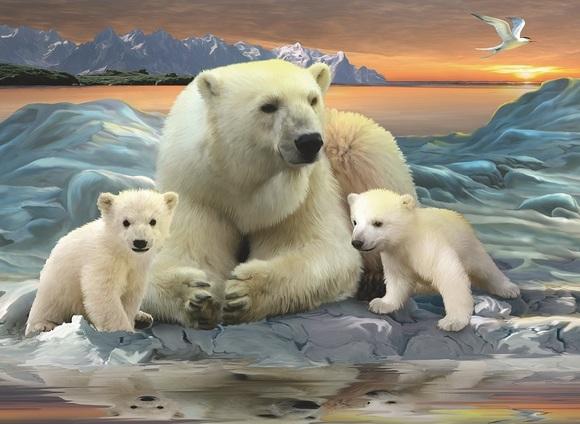 Пазл 'Полярные медведи' XXL 200 шт ravensburger ravensburger пазл полярные медведи xxl 200 шт