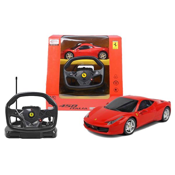 Машина р/у 1:18 Ferrari Italia 458 с пультом управления в виде руля