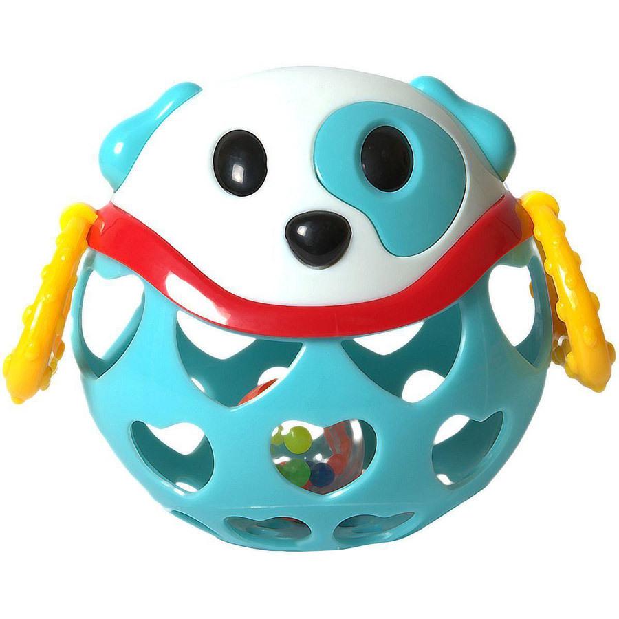 Игрушка-неразбивайка СобакаСмешная собачка Baby Trend – играй, веселись и развивайся!Внутри игрушки спрятана погремушка, которая издают забавные звуки, когда малыш трясёт её.Рельефные ручки можно использовать в качестве прорезывателей для зубок – они успокоят нежные дёсны малыша.Благодаря уникальной форме игрушку удобно держать маленькими пальчиками.Выполнена из мягкого гибкого пластика.Развивает моторику, слух, зрение.<br>