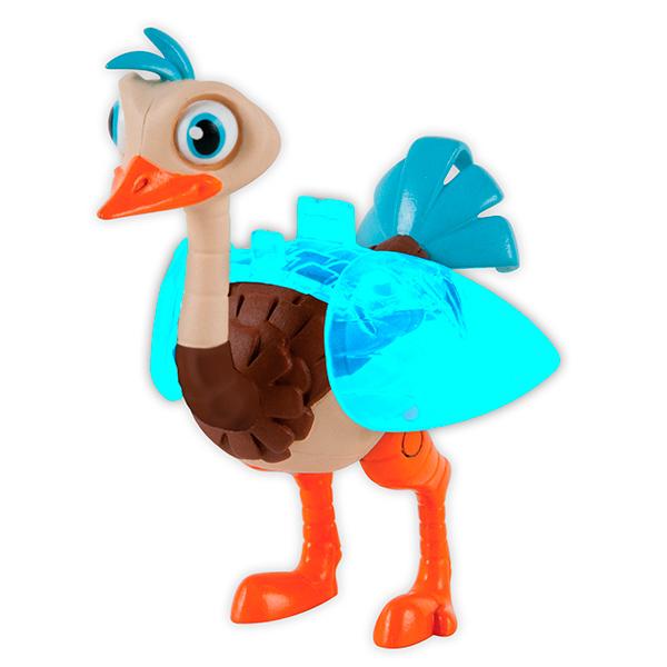 Фигурка Майлз с другой планеты - Страус Мерк, 9 смЯркая фигурка изображает героя мультсериала Майлз с другой планеты - робота-страуса Мерка, любимого питомца семьи Каллисто, путешествующей на космическом корабле. Игрушка выполнена в сочных, насыщенных цветах. У птицы двигаются лапы и голова. Крылья игрушки раскрываются, это создает ощущение того, что птица интенсивно ими машет. Выполнена фигурка из качественной пластмассы, безопасной для ребенка. Верный и находчивый страус будет сопровождать отважную семейку во время космических приключений! С такой игрушкой ребенок сможет разыгрывать сценки из нового увлекательного сериала.Внимание! Расцветка игрушки может отличаться от представленной на фото. Космический корабль в комплект не входит.<br>