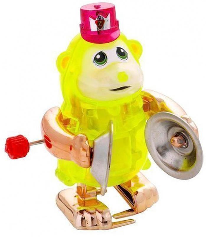 Заводная игрушка Z WindUps Обезьянка Такер с музыкальными тарелкамиЗаводная игрушка Обезьянка Такер развеселит ребенка и поднимет ему настроение. Игрушка изготовлена из пластмассы и представлена в виде очаровательной обезьянки с шапочкой на голове, в лапках у которой есть тарелки.Обезьянка оснащена заводным механизмом, благодаря которому игрушка может забавно передвигаться по ровной поверхности и весело стучать тарелками. Такая развлекательная игрушка не заставит заскучать ни одного ребенка.<br>