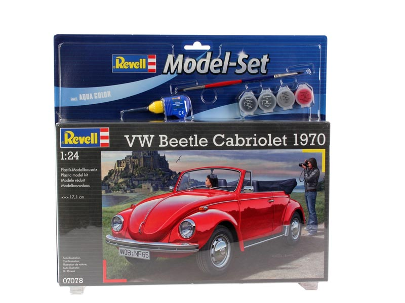 Купить Подарочный набор со сборной моделью Фольксваген Жук 1970 (Кабриолет) , 1:24