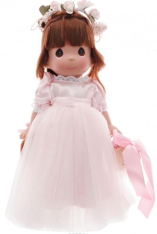 Кукла Precious Moments Драгоценный лепесток брюнетка 30 см precious moments мини кукла пастушка цвет платья светло коралловый