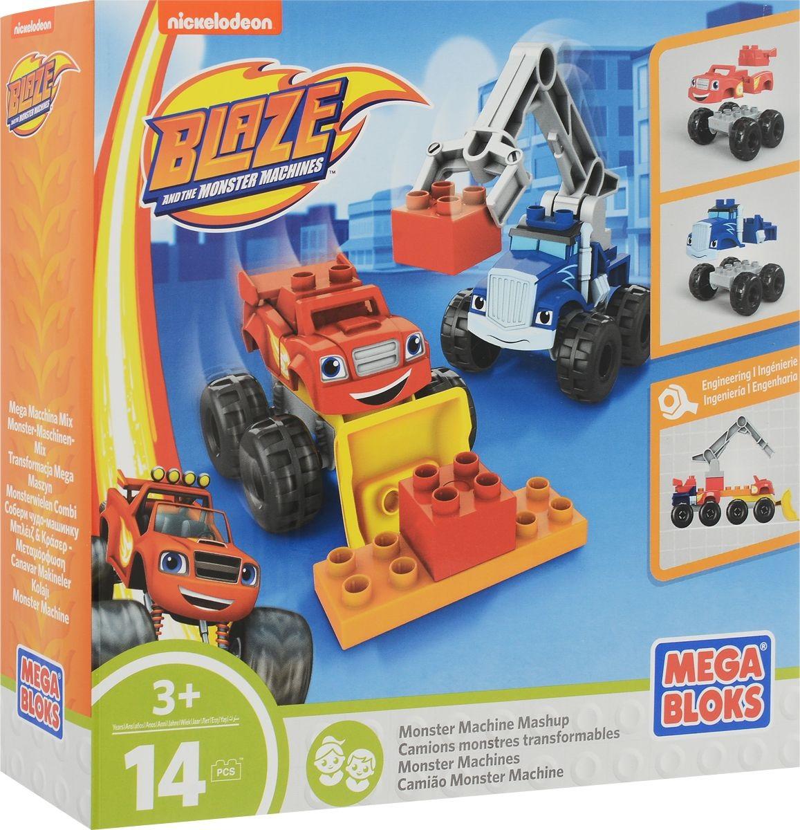 Купить со скидкой Mega Bloks Вспыш Конструктор Гибридная машина монстров Bloks/Mega Construx Яркий