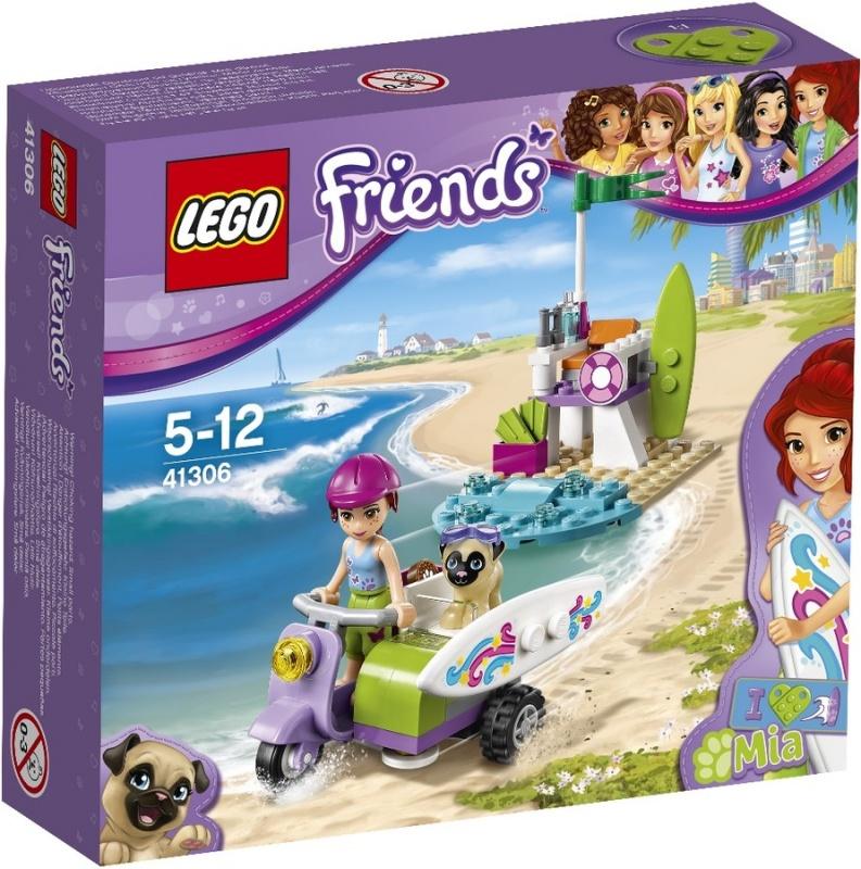 Конструктор Lego Friends 41306 Пляжный скутер Мии smoby smoby трек пожарная станция