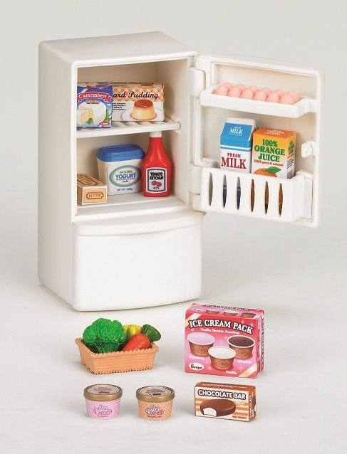 Набор Sylvanian Families. Холодильник с продуктами, новый холодильник с продуктами новый