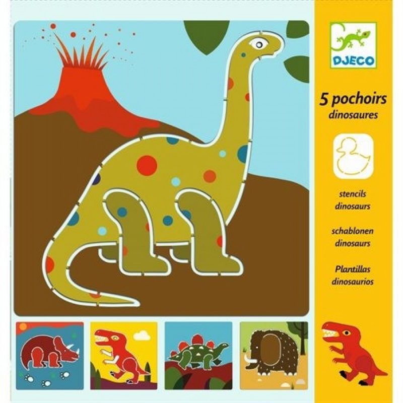 Набор трафаретов Динозавры djeco динозавры