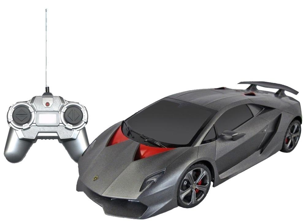 Машина радиоуправляемая Rastar Lamborghini SestoРадиоуправляемая машинка Lamborghini Sesto обладает неповторимым стилем и привлекательным дизайном. Игрушечная модель переняла у своего прототипа большую скорость, маневренность и хорошую управляемость. Внушительный размер автомашины делает ее особенно реалистичной. Помимо всего прочего, данная модель обладает улучшенной системой амортизации, которая будет крайне нужна на уличных дорогах. Кроме того, у машинки могут дистанционно открываться и закрываться двери, она свободно едет вперед и сдает назад, поворачивает вправо и влево. Для работы машинки нужно 5 пальчиковых АА батареек и 1 Крона для пульта.<br>