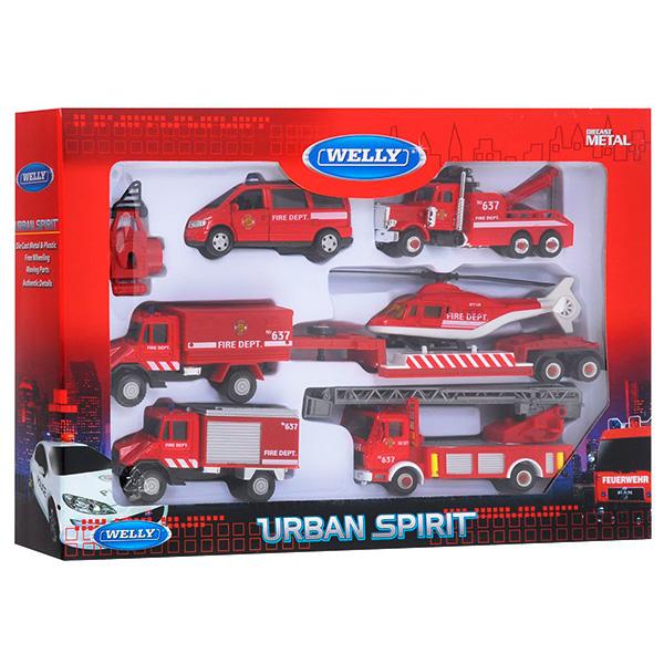 Игрушка набор машин Пожарная служба 6 шт. игровой набор welly пожарная служба 3 шт н д красный 99610 3c