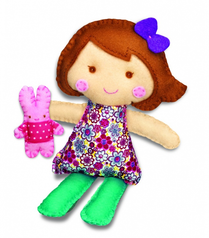 Набор для творчества Школа шитья - Кукла и крольчонок
