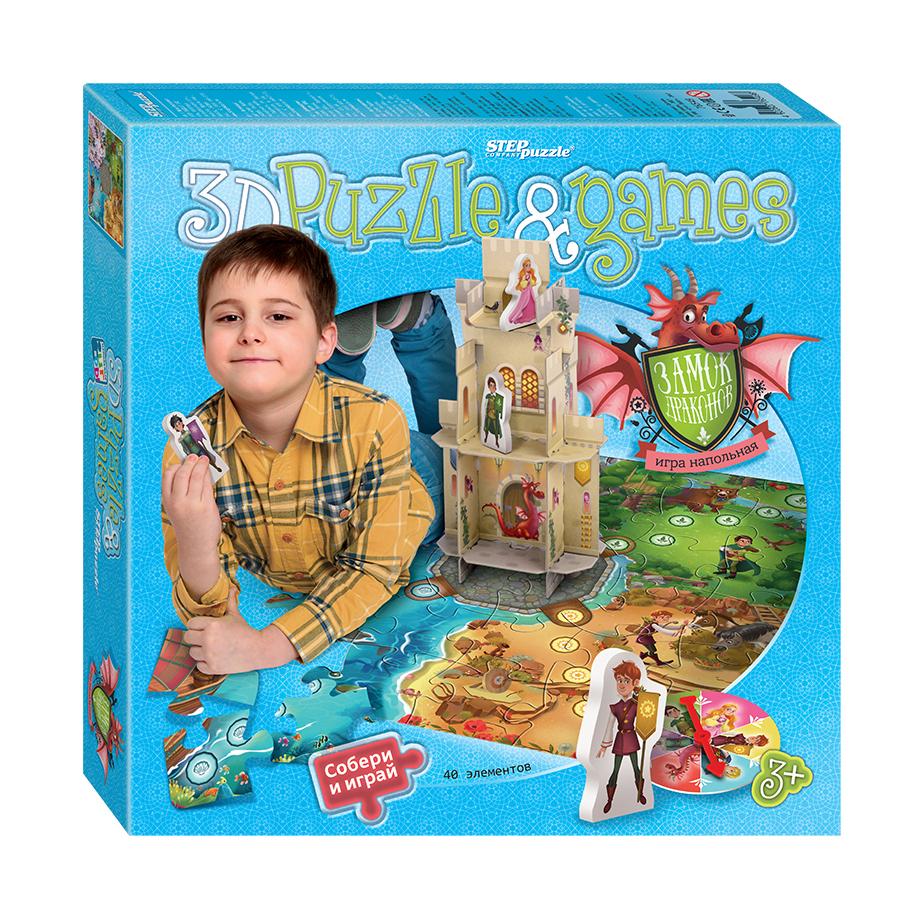 Настольная игра Замок драконовНастольная игра с 3D-полем Замок драконов от производителя Step Puzzle поможет девочкам и мальчикам весело провести время. Ее суть заключается в спасении принцессы, которую заточил в башню злой волшебник. Перед началом игры необходимо из 40 элементов собрать специальное поле. Затем можно приступать к выполнению поставленной задачи, вооружившись фигурками доблестных рыцарей. В ходе этого занятия дети разовьют логику, внимательность, скорость реакции и фантазию.<br>