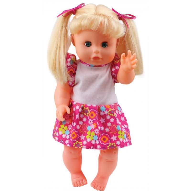 """Купить со скидкой Кукла-пупс """"Bambolina"""" c аксессуарами (пьет, писает), 33 см."""