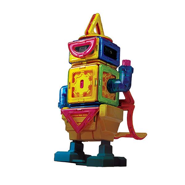 Конструктор магнитный Magformers Wolking RobotОсобенность набора Magformers «Шагающий робот» в том, что кроме стандартных деталей в него входят новые аксессуары — двигатель, пульт включения и блок для передвижения. Все вместе они образуют уникальную платформу для создания движущихся роботов Магформерс. Подробно познакомится с возможностями этого набора поможет специальная книга идей, а дальше Вас поведет собственное воображение!<br>