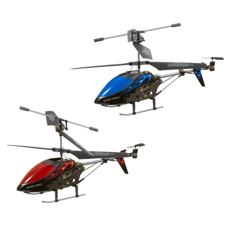 Игрушка на р/у Вертолет Gyro ForceОбратите внимание, данный товар представлен в ассортименте и может отличаться деталями и цветами. Игры в небе - это высочайшее веселье вне зависимости от погодных условий! Вы сможете часами поражаться как этот злобный летательный аппарат летает по комнате - а власть над ним находится прямо в Ваших руках. Экстремалы и фанаты радиоуправляемых моделей полюбят этот вертолет от Hamleys. Вертолет оснащен полным ИК-контролем и регулируемой скоростью движения. Является частью широкого спектра радиоуправляемых игрушек от Hamleys - идеальное решение для поощрения самостоятельной игры и развития координации рук и глаз. В наборе зарядное USB устройство и запасные лопасти. Доступно в красном или синем цветах.Требуется 6 батареек АА (не включены в комплект).<br>