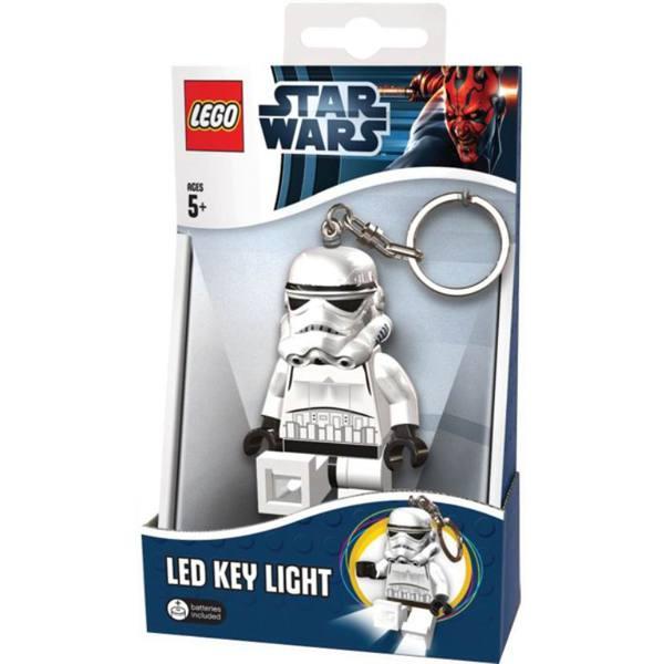 LGL-KE12 Брелок-фонарик для ключей LEGO Star Wars - Storm Trooper (Штормтрупер) lgl ni2 фонарик lego movie unikitty на подставке