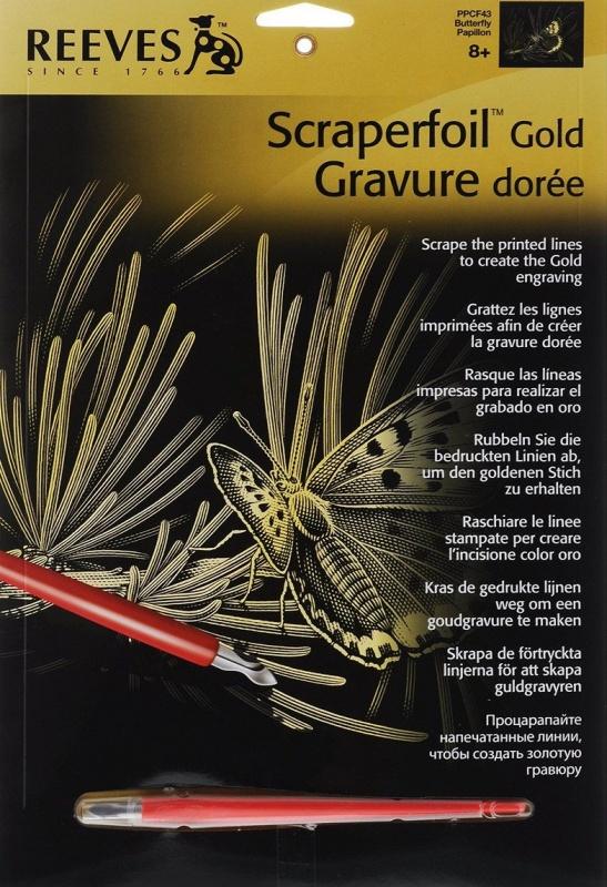 Набор для творчества Reeves Гравюра медная Бабочка гравюра с золотым эффектом reeves маска