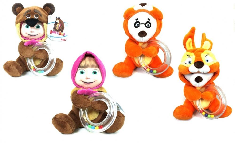 Погремушка Simba Маша и Медведь МаскарадПогремушка-маскарад Маша и Медведь подарит своему маленькому хозяину возможность выбирать, с кем ему захочется играть в настоящий момент. Это может быть Машенька, шутки ради надевшая костюм Медведя, или Панда в костюме Белочки. Оба вида погремушки изготовлены из очень приятной на ощупь материи, которая обладает гипоаллергенными свойствами и совершенно безвредна для малышей.<br>