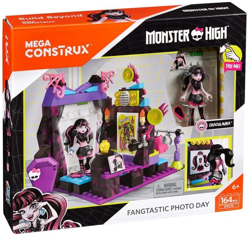 Mega Bloks Monster High Конструктор Fangtastic Photo Day fangtastic ms wiz