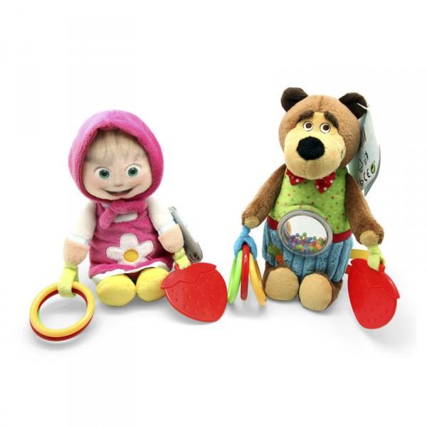 Погремушка плюш Simba Маша и Медведь  simba плюшевая книжечка маша и медведь
