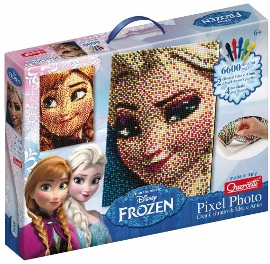 Мозаика Quercetti пиксельная Холодная СердцемС помощью этого уникального набора вы сможете создать изображение Эльзы или Анны из знаменитого мультфильма Холодная сердцем.Вам нужно просто выбрать, изображение какой героини вы хотите сделать основой мозаики, вырезать специальным образом обработанные для мозаики листы и поместить их на доску. Можно начинать собирать мозаику!<br>