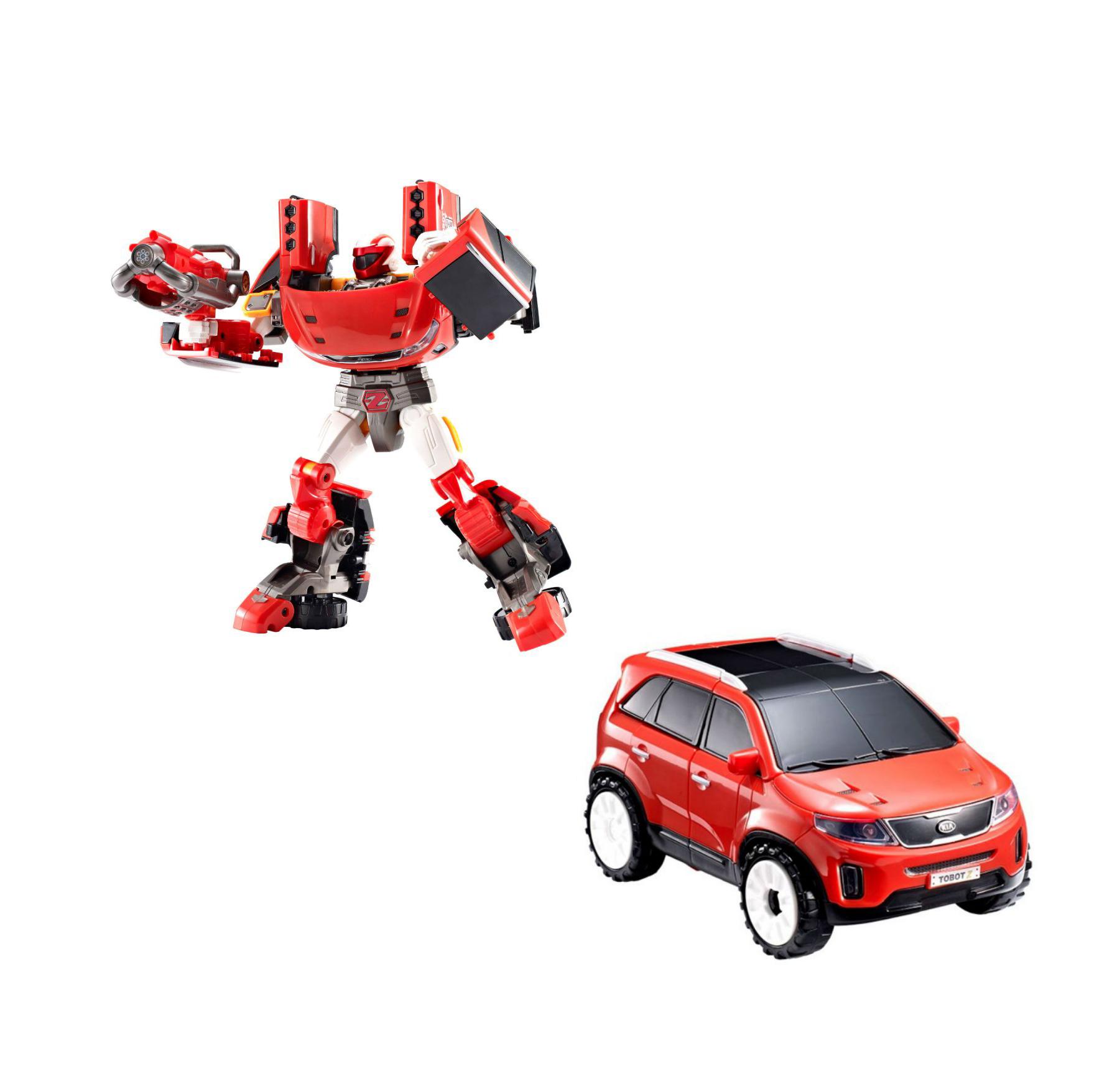 Трансформер Тобот - Приключения ZТрансформер Приключения Z из серии Тобот, созданный по одноименному мультфильму, покорит сердце с первых минут его обладания. В дополнении к роботу прилагаются оружие и ключ, которые сделают приключения более захватывающими. Но главной особенностью данного комплекта является трансформация из робота в машину. При помощи ключа робот легко превращается в стильный, яркий внедорожник, который быстр в езде на любой поверхности, благодаря своим широким колесам. Развлечение превратится в череду захватывающих сюжетов, где для сражения с противниками понадобится сила и оружие. Робота можно трансформировать неограниченное количество раз, надежно закрепленные детали предотвратят скорую поломку уникальной игрушки. Увлекательный процесс игры с превращением помогает развитию не только фантазии, но и ментального мышления.Трансформер изготовлен из качественного и безопасного для детей материала.<br>