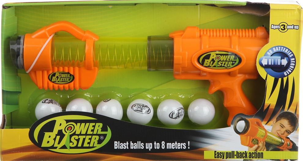 Игрушечное оружие Power BlasterЯркий механический бластер Power Blaster от компании Toy Target станет замечательным подарком для каждого мальчика, ведь с этой игрушкой тренировать меткость можно уже с раннего возраста. Благодаря специальной конструкции бластера поролоновые шарики заряжаются и стреляют без использования батареек - в ствол встроена адаптированная для детей ручная помпа. Цели можно поражать на расстоянии до восьми метров, при этом для стрельбы одновременно заряжаются до шести снарядов.<br>
