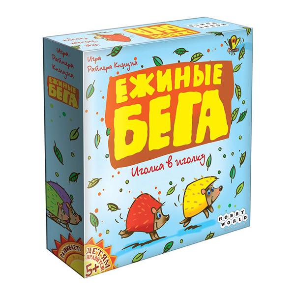 Ежиные бегаНастольная игра Ежиные бега 4620011814296 - новая семейная игра от создателей знаменитых «Черепашьих бегов». Это напряжённый забег по пересечённой местности, результат которого зависит от вашей находчивости, хитрости и стратегического таланта. Разыгрывайте карты, двигайте деревянные фишки ёжиков, следите за действиями соперников и помните, что в любой гонке бывает только один победитель!Комплектация:- Игровое поле- 55 карт- 36 жетонов победных очков- 4 фигурки ежей- Правила игрыРазмер коробки: 204x204x45 ммРазмер карт: 44x67 ммВес: 420 гПроизводитель: HOBBY WORLD<br>