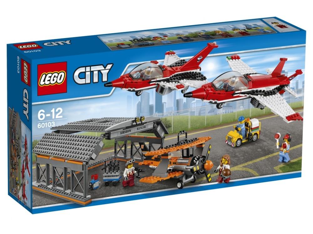 Конструктор Lego City 60103 Авиашоу реактивные самолеты из бумаги