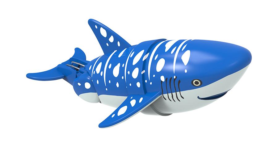 Акула-акробат Вэйлон, 12 смРыбка-акробат плавает и ныряет. Траектория движения игрушки зависит от наклона хвоста. Игрушка работает от двух батарее типа ААА (LR03). Батарейки в комплект не входят.<br>