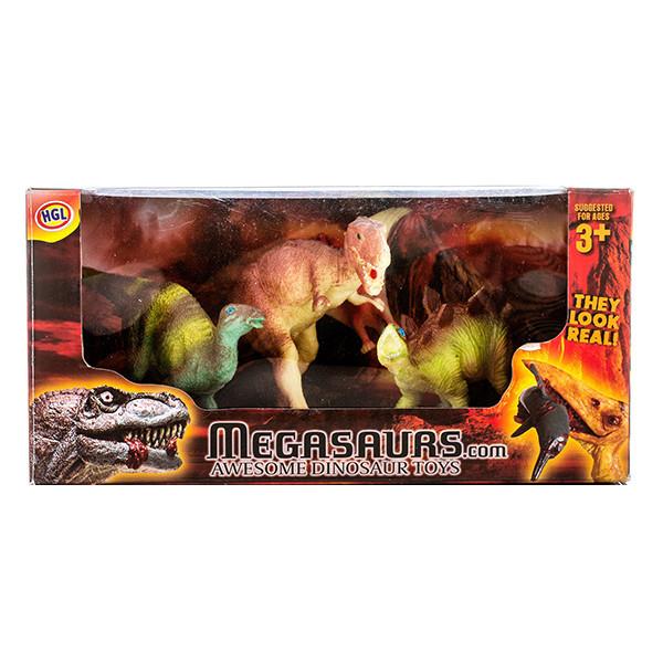 Игровой набор Динозавров, 12 шт.Игровой набор состоит из 5 фигурок. Они выглядят очень реалистично и эффектно, в точности копируют рептилий различных видов. Такой набор станет отличным подарком не только для маленьких, но и взрослых коллекционеров динозавров.Возраст: от 3 лет.<br>