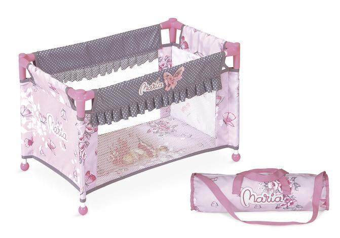 Манеж-кроватка для куклы серии Мария, 50смМанеж кроватка для куклы, складная,нежно сиреневого цвета.По бокам вставлена сетка, чтобы видеть куклу сбоку.<br>
