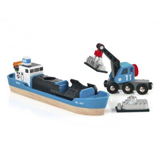 Игровой набор Корабль и кран-погрузчик