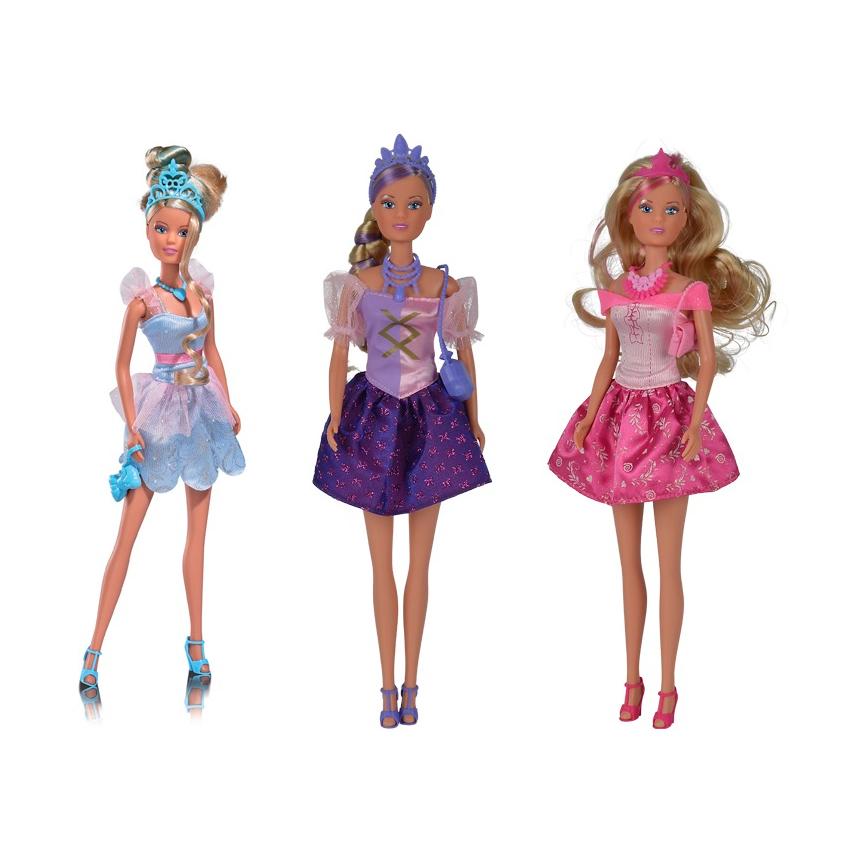 Кукла Штеффи Стильная принцесса, 29 смКукла Штеффи от немецкой компании Simba предстает в новом образе - Стильная принцесса. У Steffi большие глаза, роскошные волосы, украшенные драгоценной короной. Стильное платье, в которое одета кукла, поможет ей стать королевой бала. Подобранные к новому образу аксессуары добавляют изысканности моднице.<br>