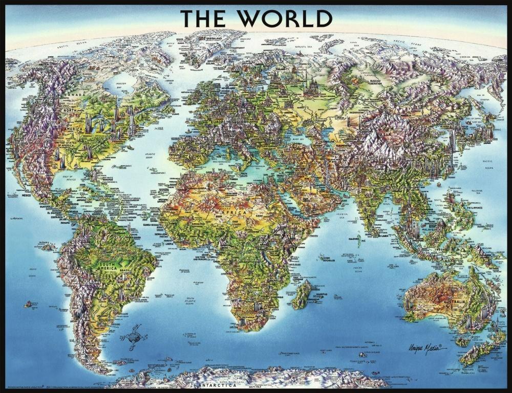 Купить со скидкой Пазл Ravensburger Карта мира, 2000 шт.