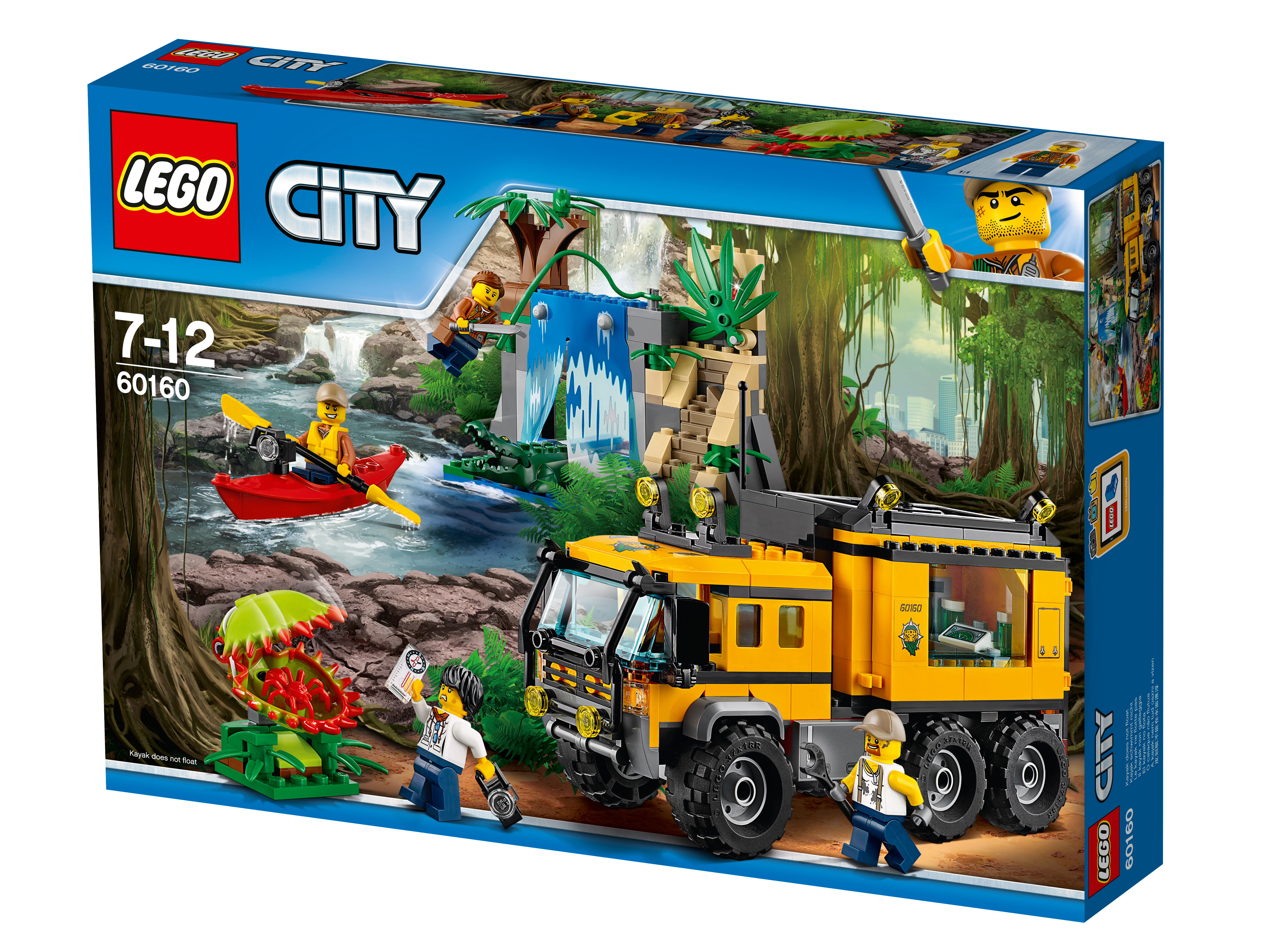 Передвижная лаборатория в джунгляхУкомплектуй Передвижную лабораторию в джунглях необходимым оборудованием и направляйся к затерянному водопаду! Помоги механику отремонтировать грузовик, пока учёный исследует территорию. Опасайся крокодилов в воде и найди в храме что-то по-настоящему потрясающее. В джунглях LEGO® City всегда интересно!<br>