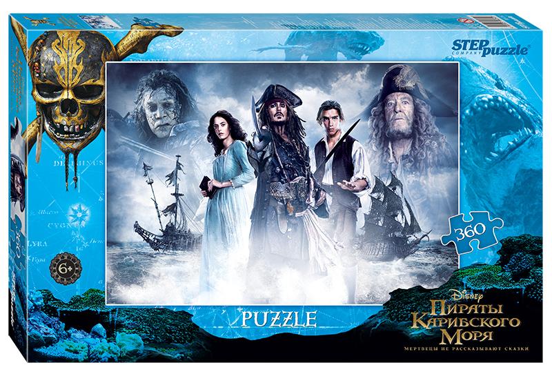Мозаика puzzle 360 Пираты Карибского моря (Disney)В пятой части пиратской саги капитана Джека Воробья преследуют старые неприятели, которые хотят уничтожить всех пиратов. Чтобы спастись, Джек должен отыскать могущественный артефакт — трезубец Посейдона, который дарует своему обладателю полный контроль над морями.<br>