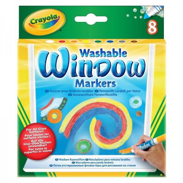 Маркеры Crayola для рисования на стекле 8 цвДетям от 3 лет до 12 летНабор маркеров разных цветов Crayola будет замечательным подарком для малышей.Смываемые маркеры для рисования на стекле избавят вас от переживаний за стекла и зеркала в доме, а ребенку подарят радость творения на новой поверхности.<br>