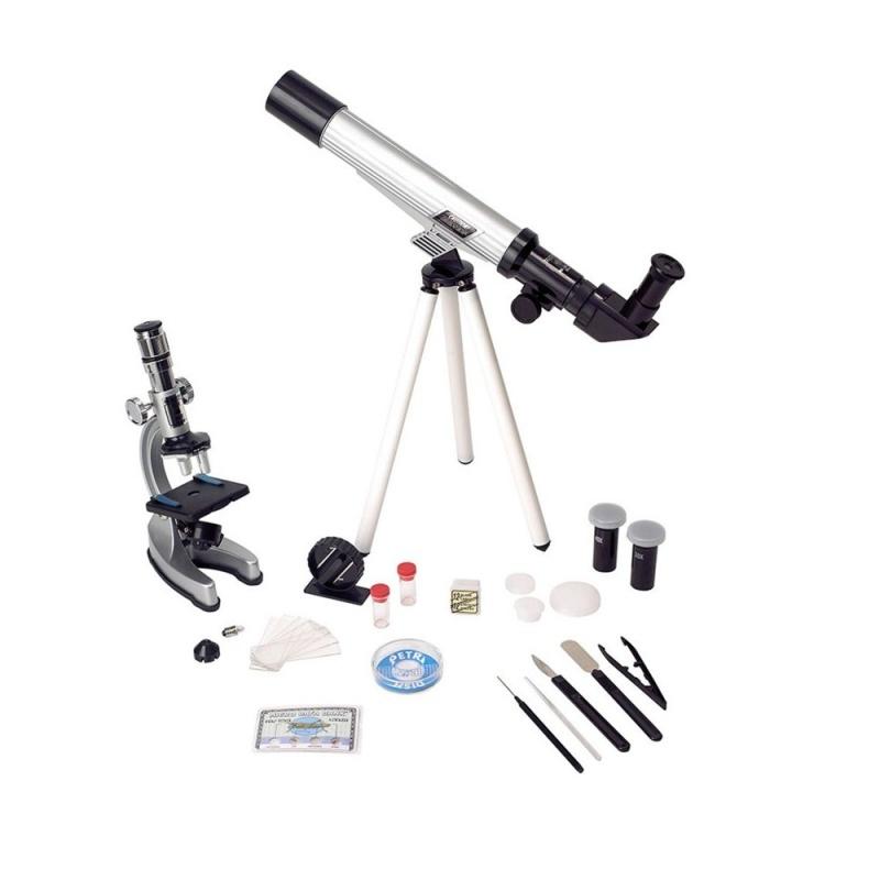 Набор Hamleys Телескоп И МикроскопПосмотрите на мир в новом свете вместе с набором телоскопа и микроскопа от Hamleys. Начинающие биологи и астрономы получат много знаний и вдохновения. Установите телескоп, чтобы смотреть на звезды или проводить опыты под микроскопом. Возможности для исследований и открытий бесконечны, все в ваших руках и фантазиях!<br>